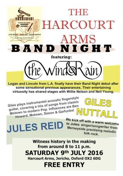 Harcourt Band Night
